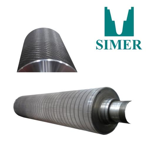 Rouleaux cannelés - marque SIMER (grooved rolls for the cardboard industry)